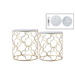 Porthleven Metal 2 Piece Nesting Tables b..