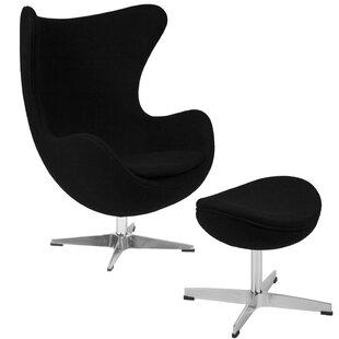 Vinod Swivel Lounge Chair and Ottoman by Brayden Studio