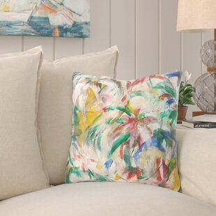 Elsa Flowers Throw Pillow