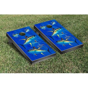 Victory Tailgate Guy Harvey Yellowfin Tuna Cornhole Game Set