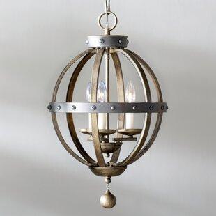 Laurel Foundry Modern Farmhouse Wilburton 3-Light Globe Chandelier