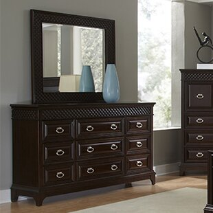 Sonoma 9 Drawer Dresser with Mirror by Najarian Furniture