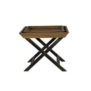 Union Rustic Garrison Coffee Table with T..