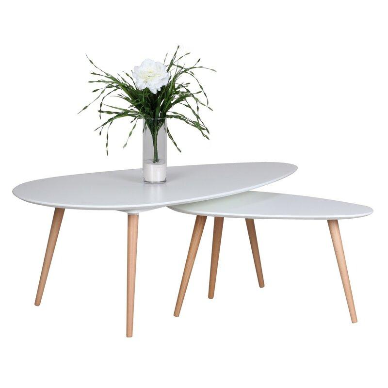 Horsens 2 Piece Coffee Table Set