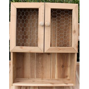 August Grove Grimaldo Western Cedar Wall Mounted Curio Cabinet