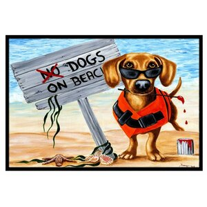 The Dog Beach Dachshund Doormat