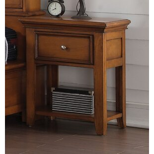Bargain Congdon 1 Drawer Nightstand by Harriet Bee
