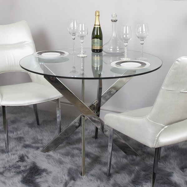 Glass Round Table | Wayfair.co.uk