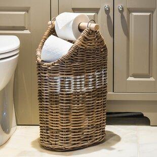 Orava Kubu Rattan Freestanding Toilet Paper Holder & Rattan Paper Plate Holders   Wayfair