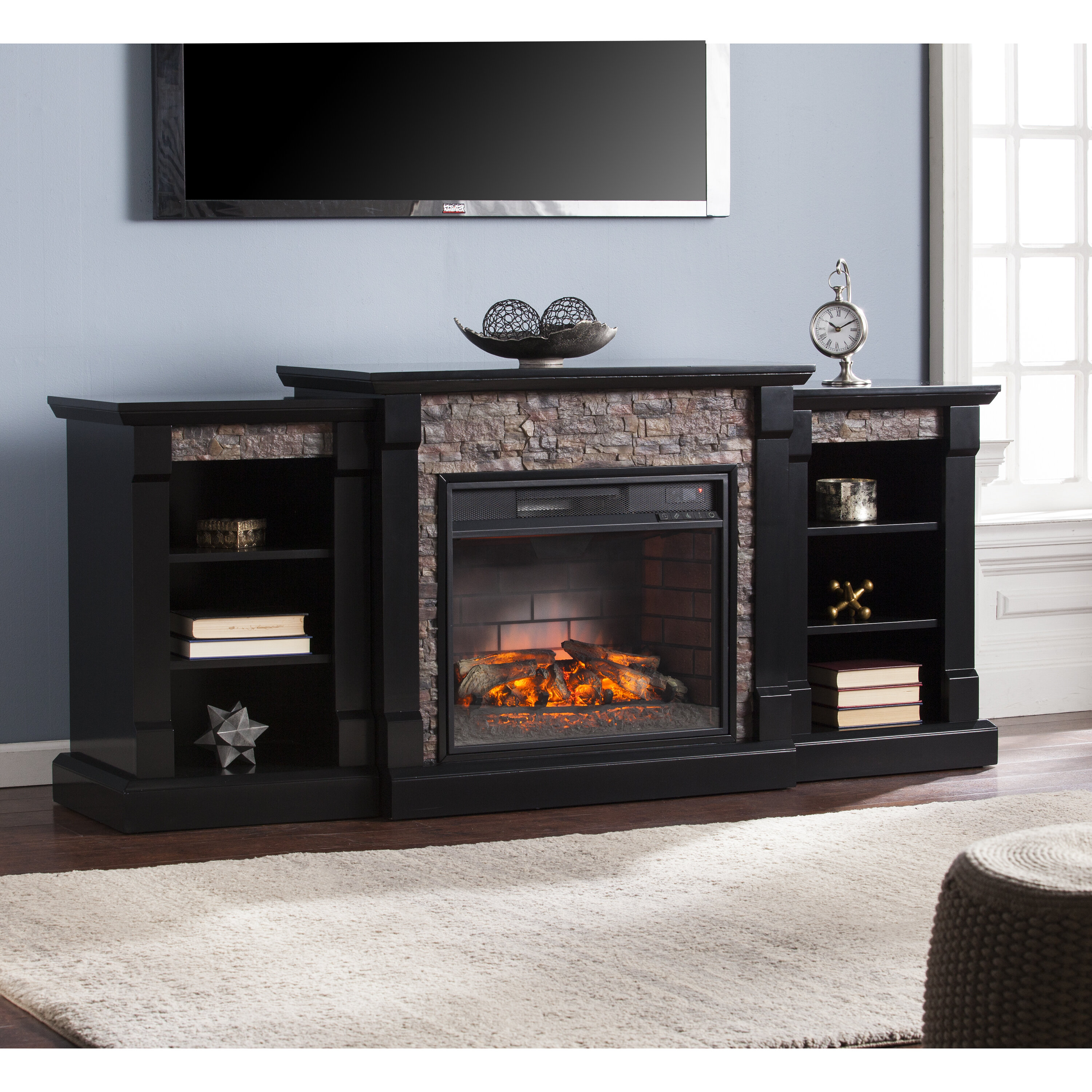 to small of fireplace marvelous d cor up for hudson insert aifaresidency flame electric walmart com tvs media