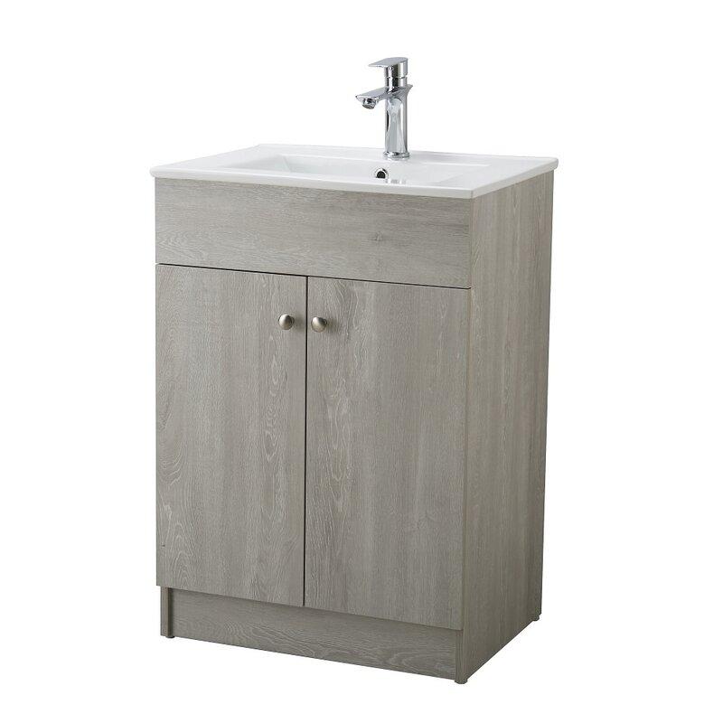 """24 Bathroom Vanities And Sinks latitude run hodgeman 24"""" single bathroom vanity set & reviews"""
