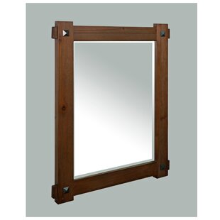 Millwood Pines Welborn Rustic Wood Framed Bathroom / Vanity Mirror