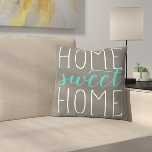 Home Sweet Home Cotton Throw Pillow