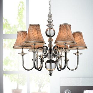 Curves 6-Light Shaded Chandelier by CWI Lighting