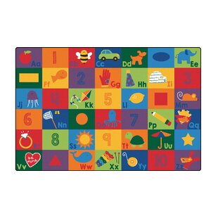 Price Check Sequential Literacy Seating Area Rug ByCarpets for Kids Premium Collection