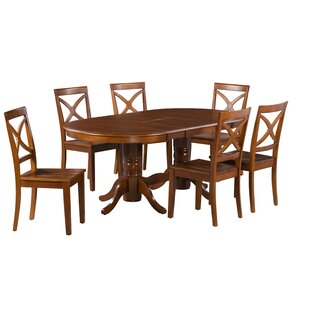 Guadalupe 7 Piece Extendable Solid Wood Dining Set Alcott Hill