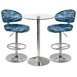 Vista Dining Set With 2 Chairs By Ebern Designs