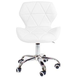 white fluffy desk chair wayfair co uk rh wayfair co uk Soft White Chairs Fuzzy Desk Chair White
