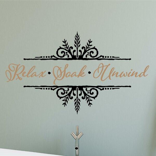 Enchantingly elegant relax soak unwind vinyl letter word bathroom wall decal wayfair