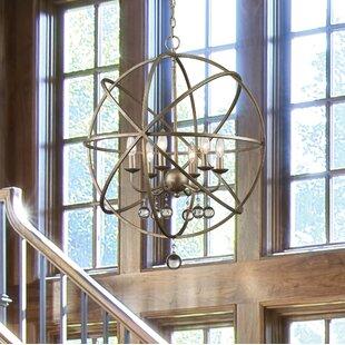 Rosdorf Park Leonora 6-Light Globe Chandelier