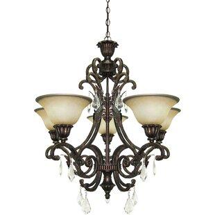 Astoria Grand Ironwood 5-Light Shaded Chandelier