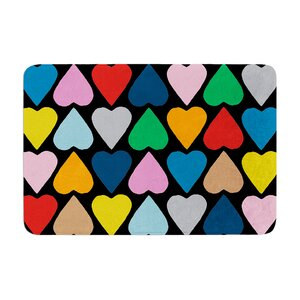 Up and Down Hearts by Project M Bath Mat