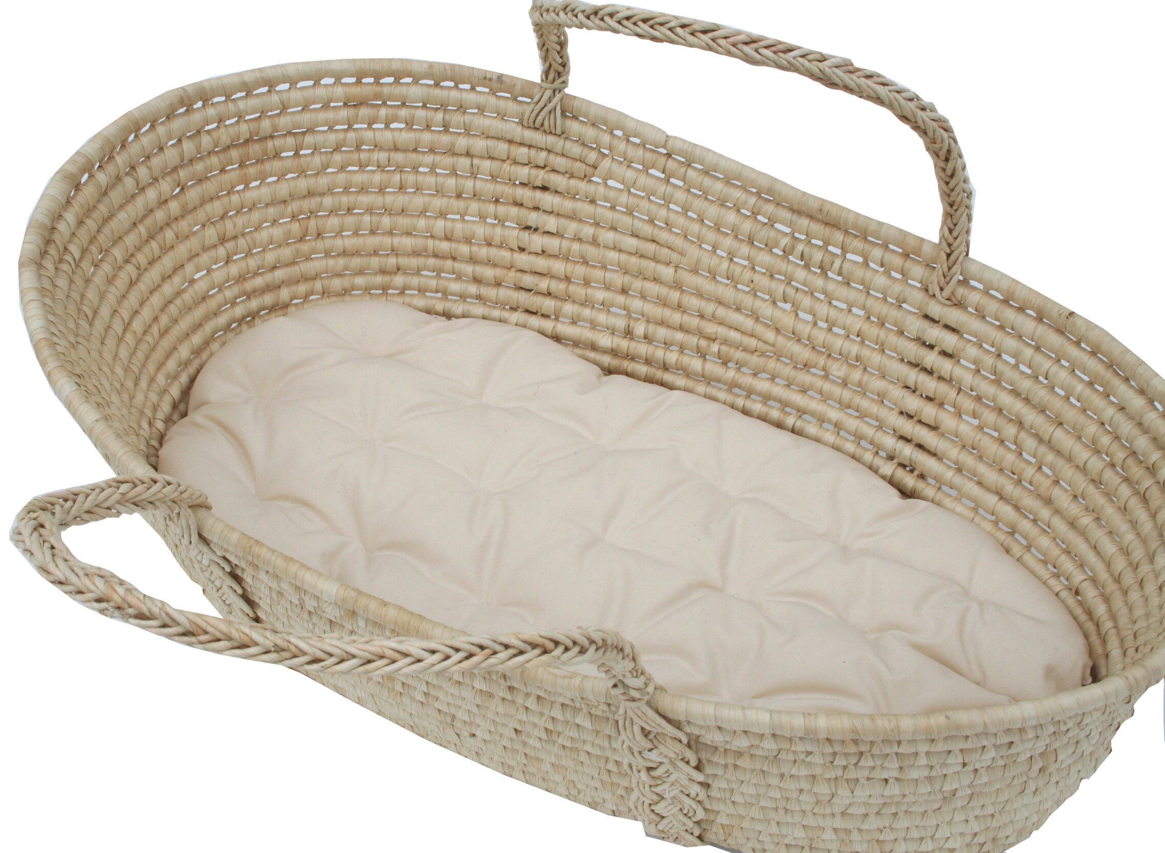 Baby Crib Moses Basket Round Corner Bed Foam MATTRESS Quilted Breathable Cover