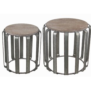 Gracie Oaks Mclaurin 2 Piece Nesting Tables