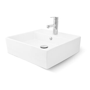 Razionale Vitreous China Square Vessel Bathroom Sink with Overflow by Mansfield Plumbing Products