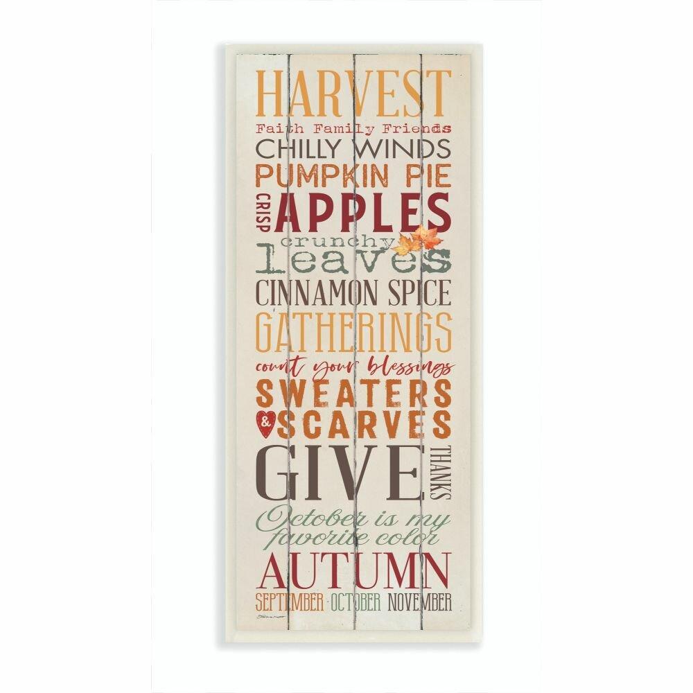 The Holiday Aisle Fall Halloween Holiday Pumpkin Word Wood Textured Design Graphic Art On Canvas Wayfair
