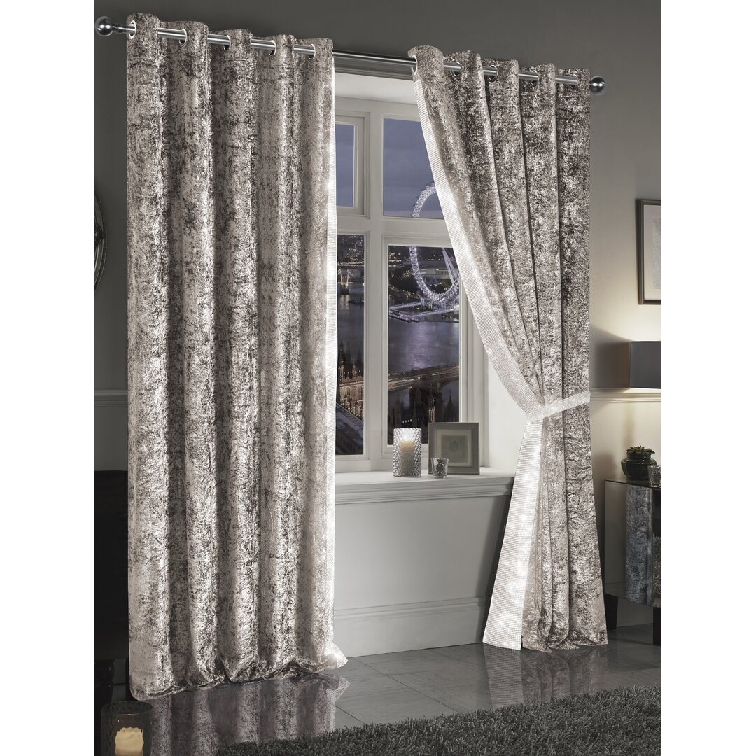 Rosales Crystal Eyelet Blackout Thermal Curtains