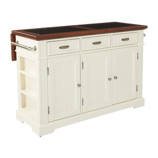 Cintron Large Kitchen Island with Granite Top August Grove
