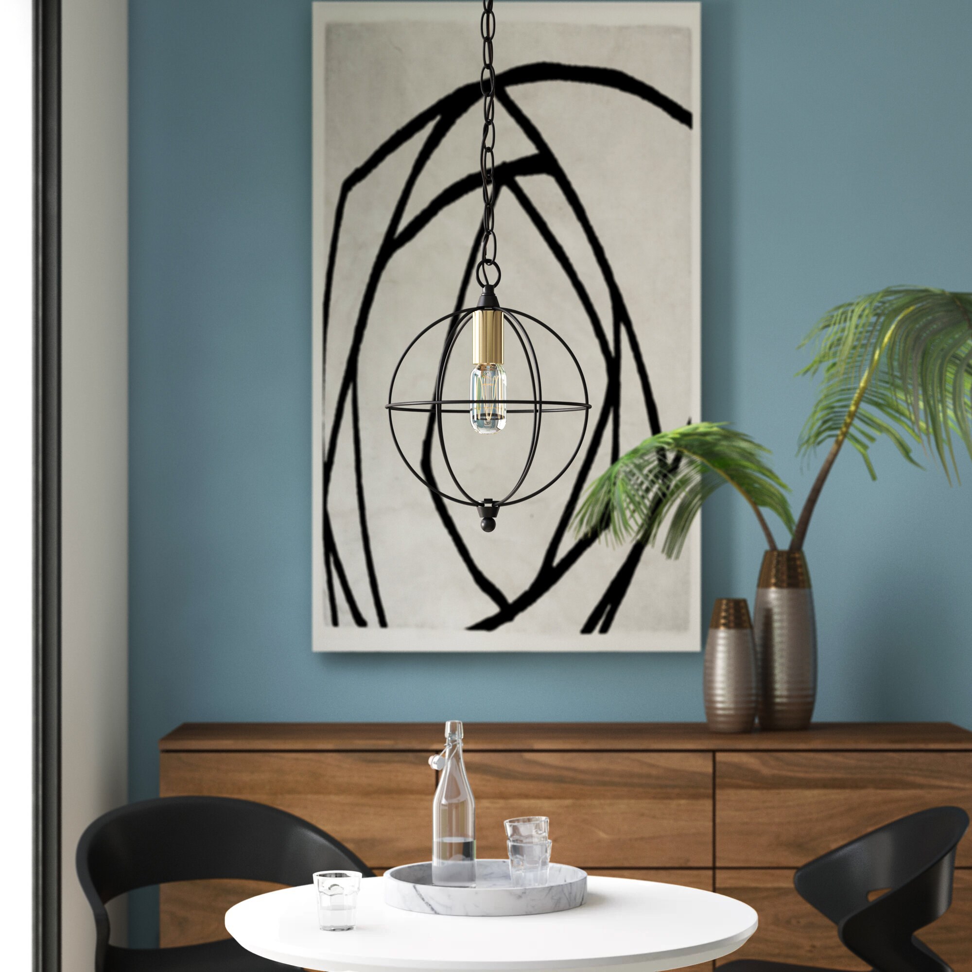 Mercury Row Hubler 1 Light Single Globe Pendant Reviews Wayfair