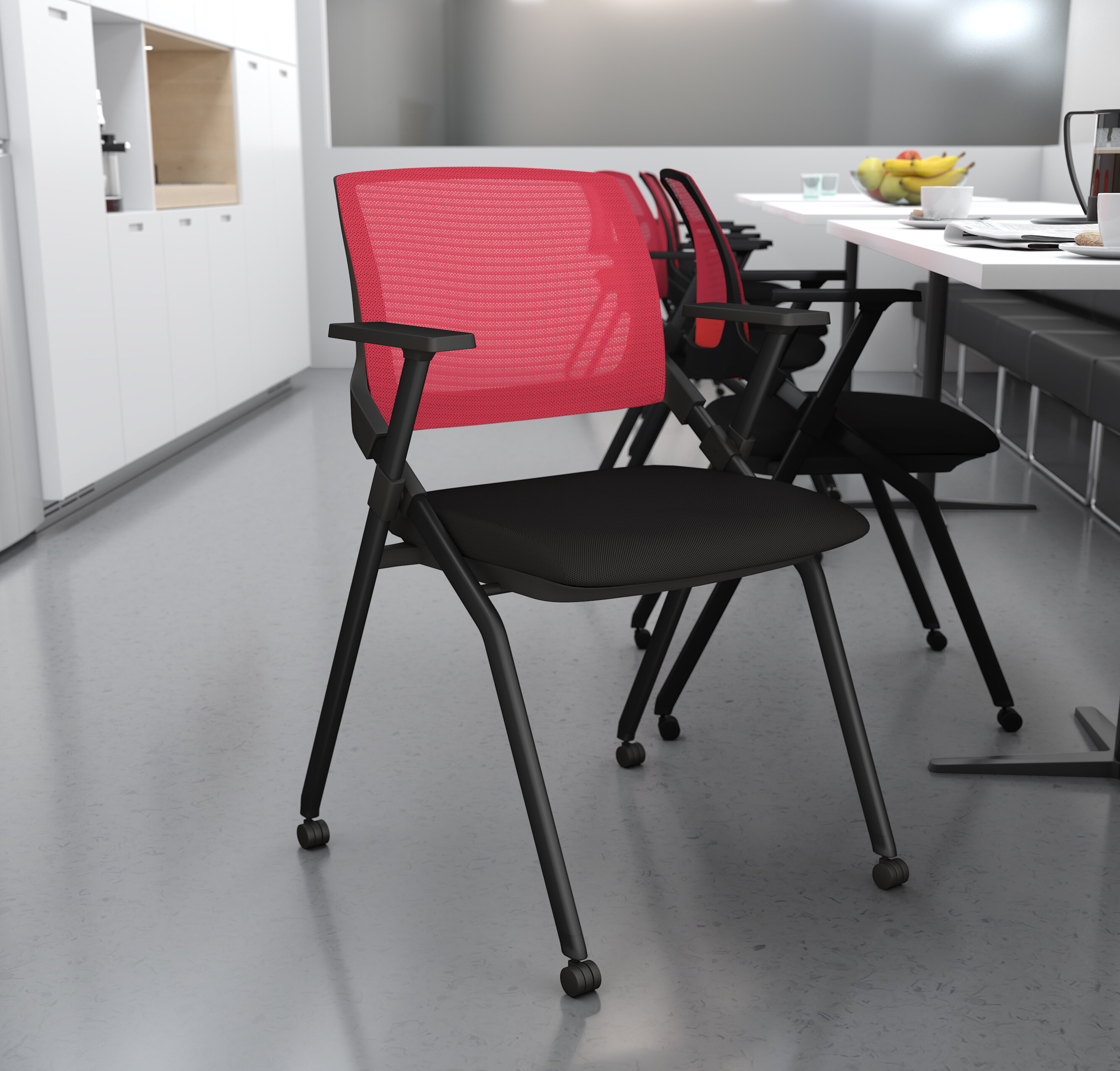 Image of: Bestar Fabric Padded Folding Chair Wayfair