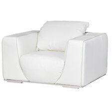 Mia Bella Sophia Leather Club Chair by Michael Amini (AICO)