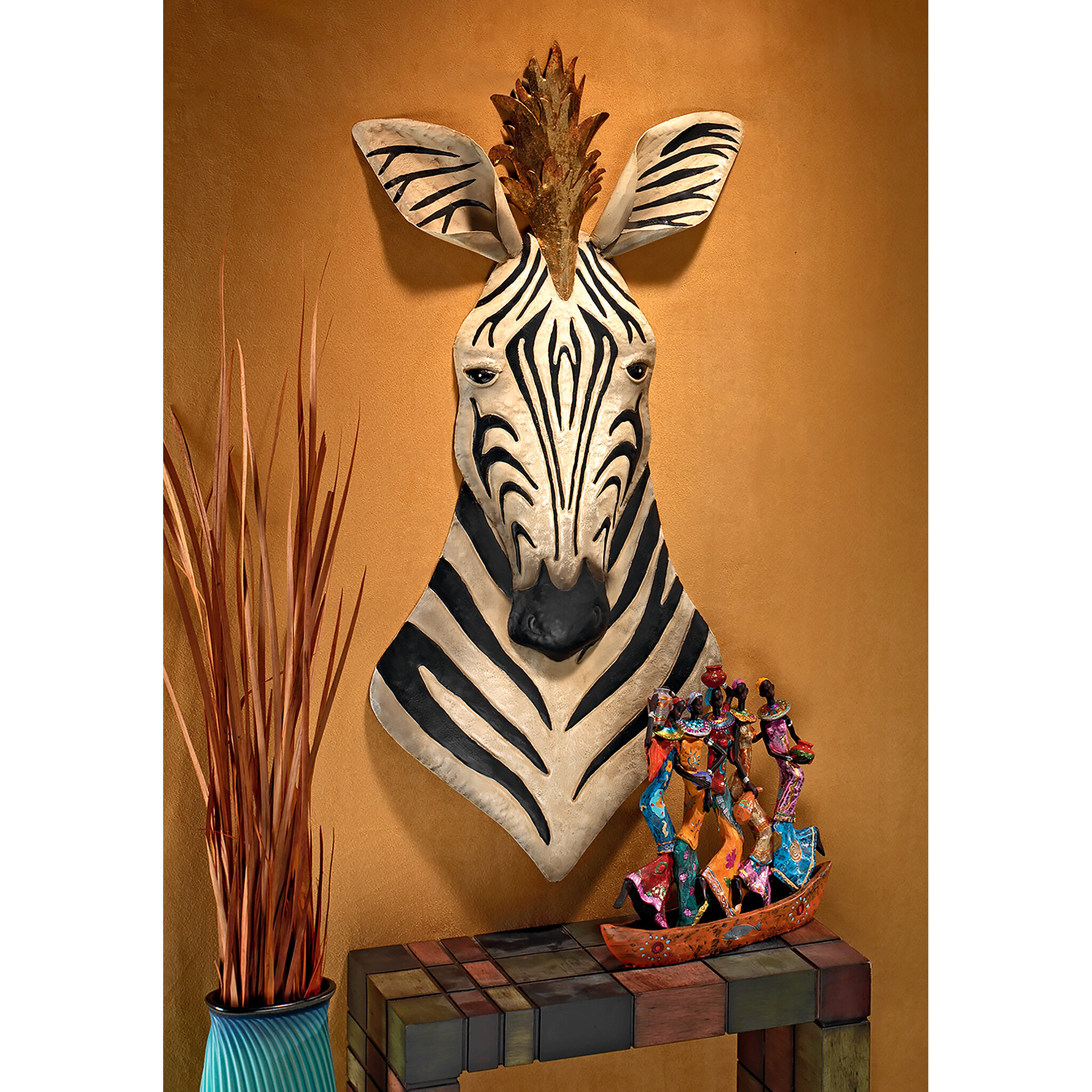Design Toscano King Of The Herd Safari Zebra Metal Wall Décor Reviews Wayfair