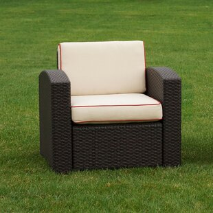 Brayden Studio Loggins Patio Chair with C..