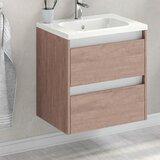 Catuy 24 Wall-Mounted Single Bathroom Vanity Set by Latitude Run