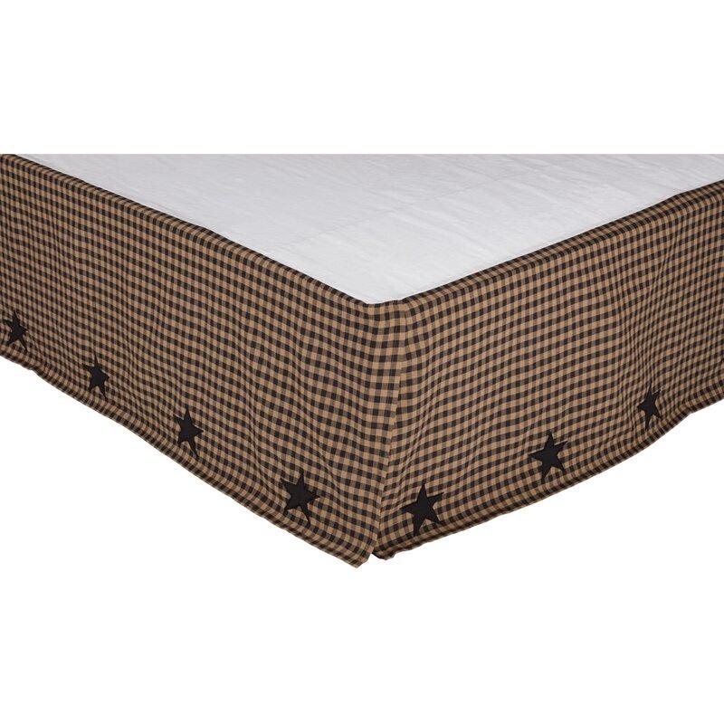 August Grove Rudd Check Star 16 Bed Skirt Reviews Wayfair