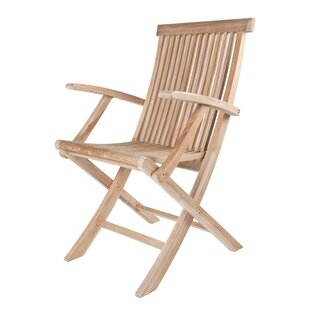Solid Teak Classic Folding Patio Dining Chair (Set of 2)