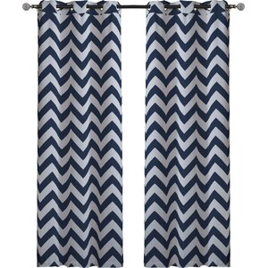 Quay Chevron Blackout Thermal Curtain Panels (Set of 2)