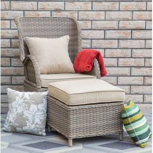 Temperance Patio Chair and Ottoman with Cushions