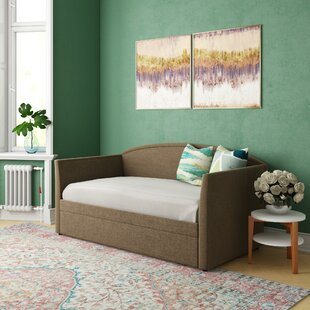 Rothschild Upholstered Twin Daybed with Trundle by August Grove