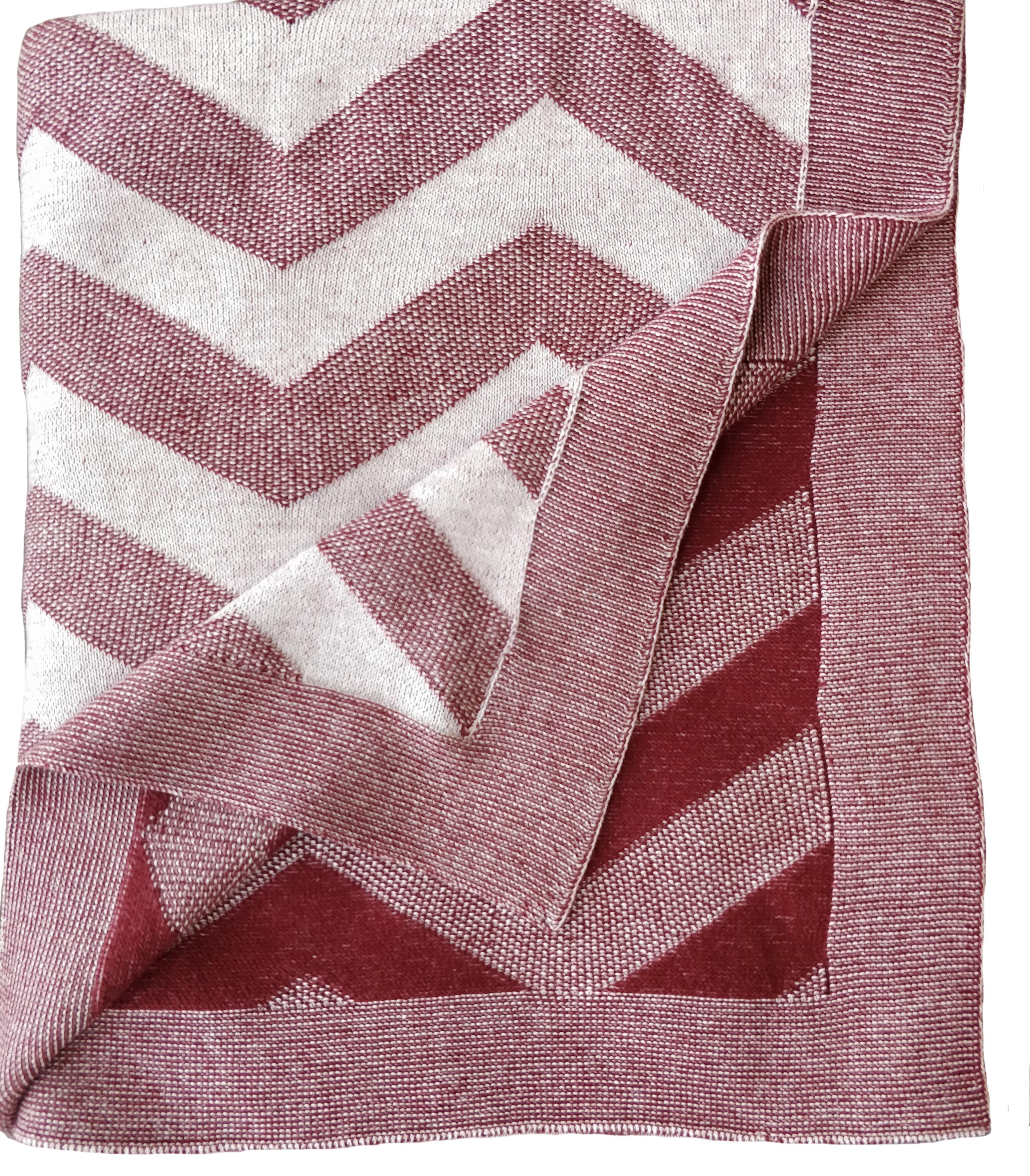 Ebern Designs Fatuberlio Luxury Zigzag 100 Cotton Blanket Wayfair