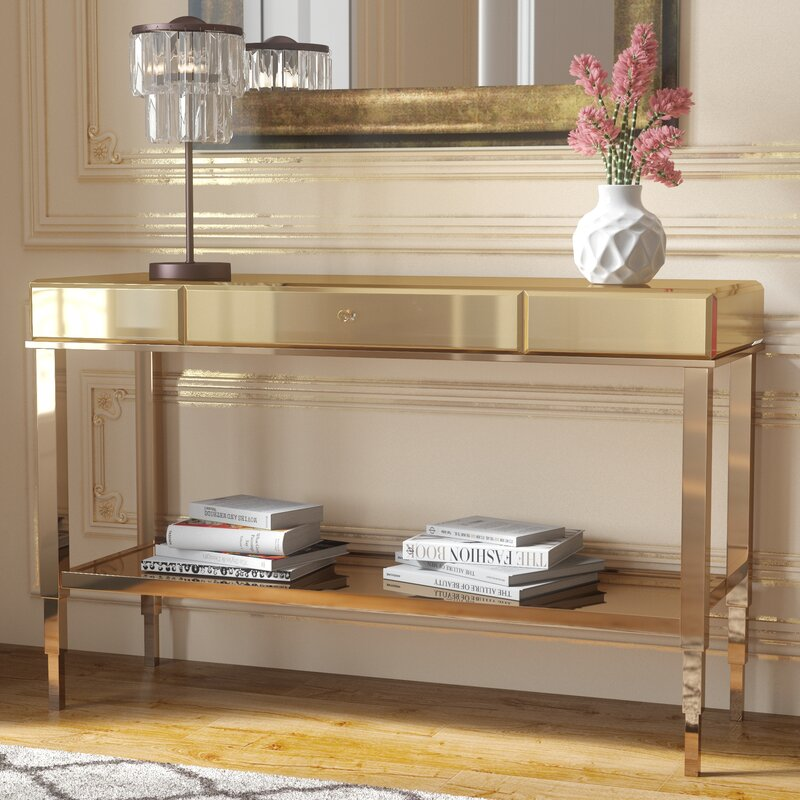 Delicieux Calisto Mirrored Console Table