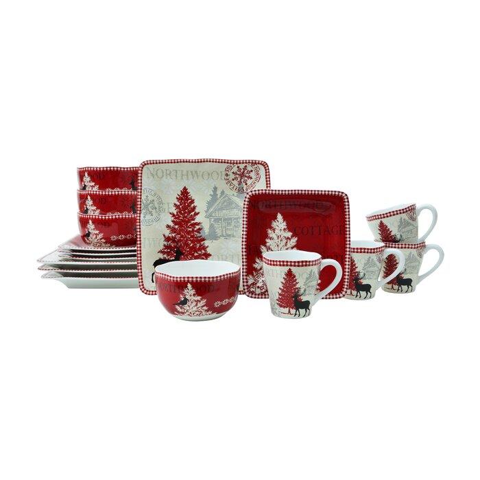 Northwood Cottage 16 Piece Dinnerware Set, Service for 4