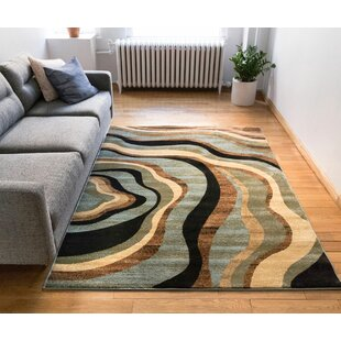 Jordon Nirvana Waves Multi / Blue Area Rug by Latitude Run