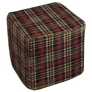 Plaid Pouf