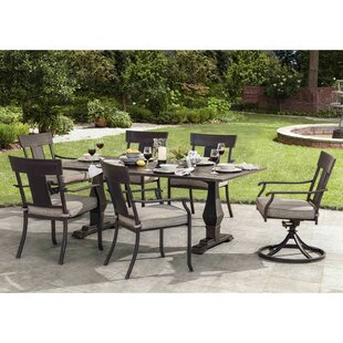 Dionne 7 Piece Dining Set with Cushions