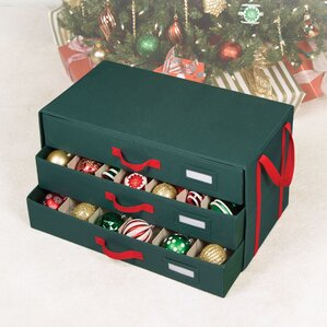 holiday 54 compartment 3 drawer ornament storage - Christmas Tree Storage Box